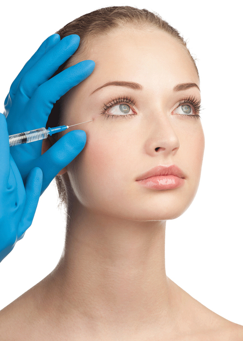 Remove wrinkle with Botox