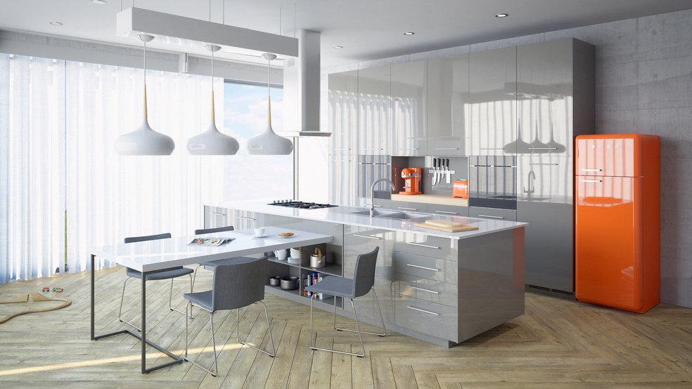 CGI Kitchen Room Set