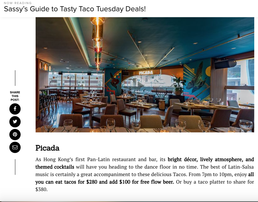 Read the full article here: https://www.sassyhongkong.com/eat-drink-restaurants-taco-tuesday-mexican-deals-guide/