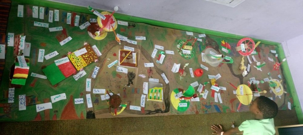 A  beautiful project made during a thematic unit on mechanics, where Grade 2 learners designed an amusement  park with rides using simple machines, showcasing creativity, teamwork, understanding, and design thinking.