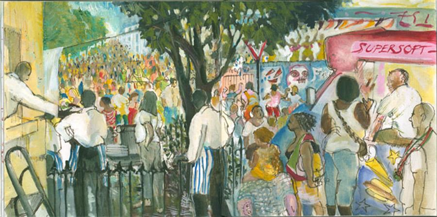 Notting Hill Carnival. Blenheim Crescent
