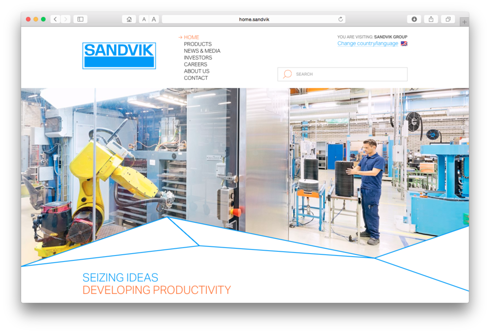 Screen Shot Sandvik home.jpg