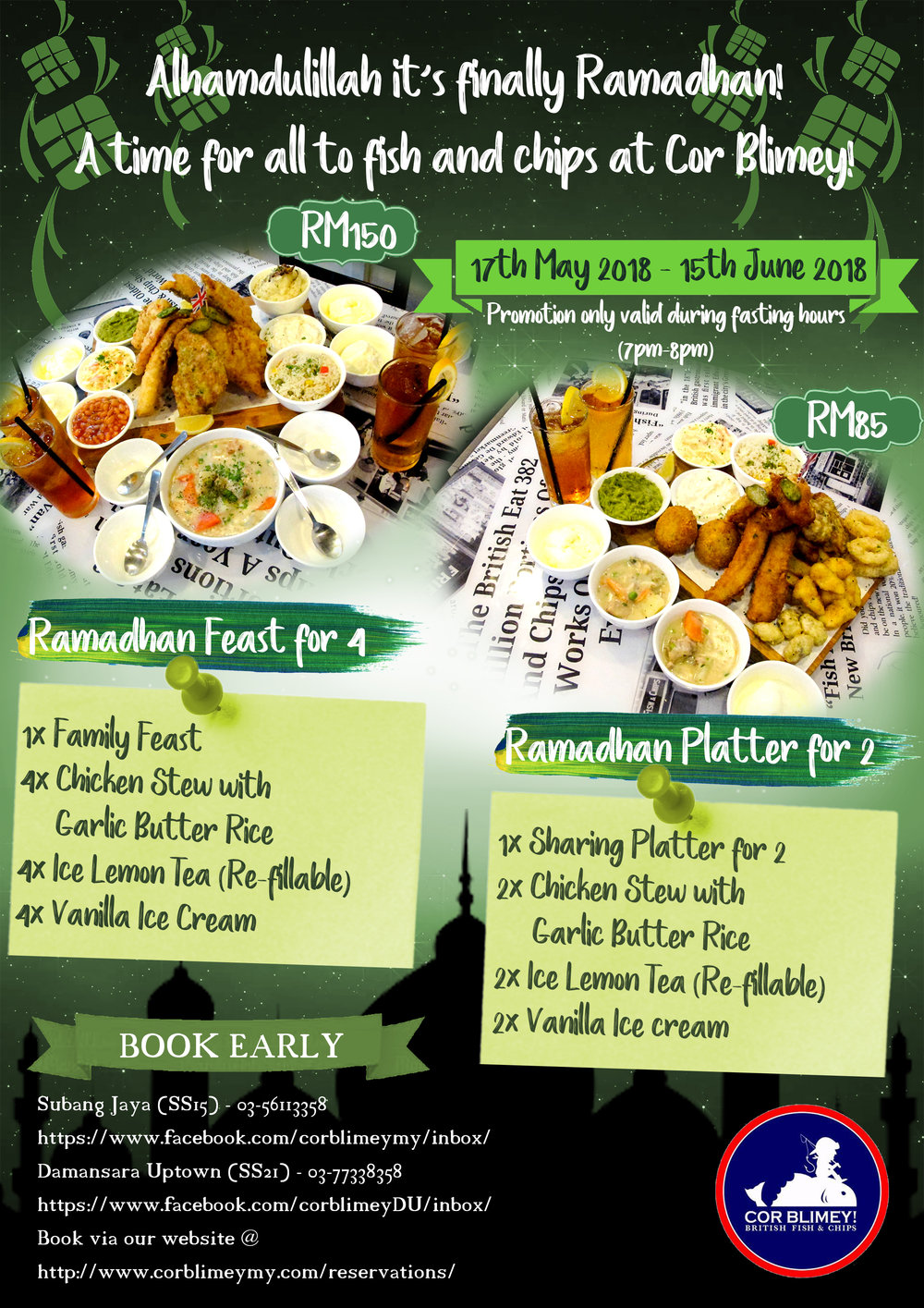 COR BLIMEY - RAMADHAN PACKAGES