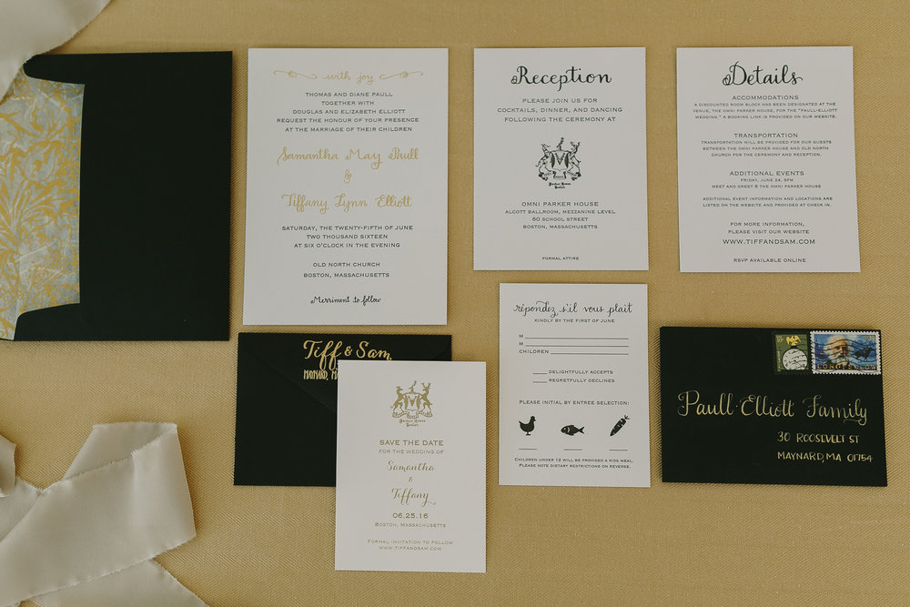 INVITATIONS Earnest Bee Calligraphy Design