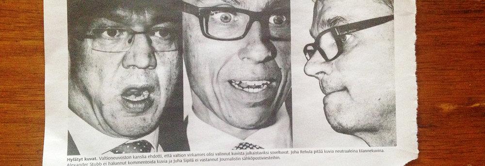 Suomalaiset poliitikot Café Lehmitzissä? Muun muassa näitä Sakari Piipon kuvia ei olisi saanut näyttää julkisesti. Revinnäinen Journalisti-lehden numerosta 14/2016.