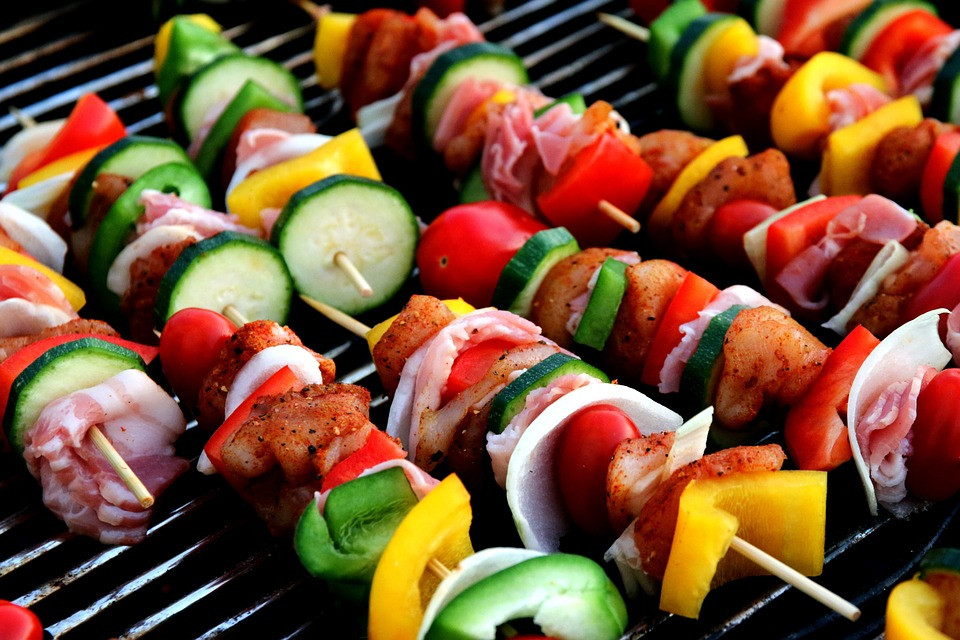 shish kabob example...sorry, we don't do meats or cheeses!