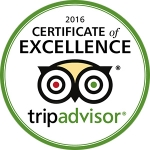 We have won the Trip Advisor certificate of excellence every year since we started in 2011