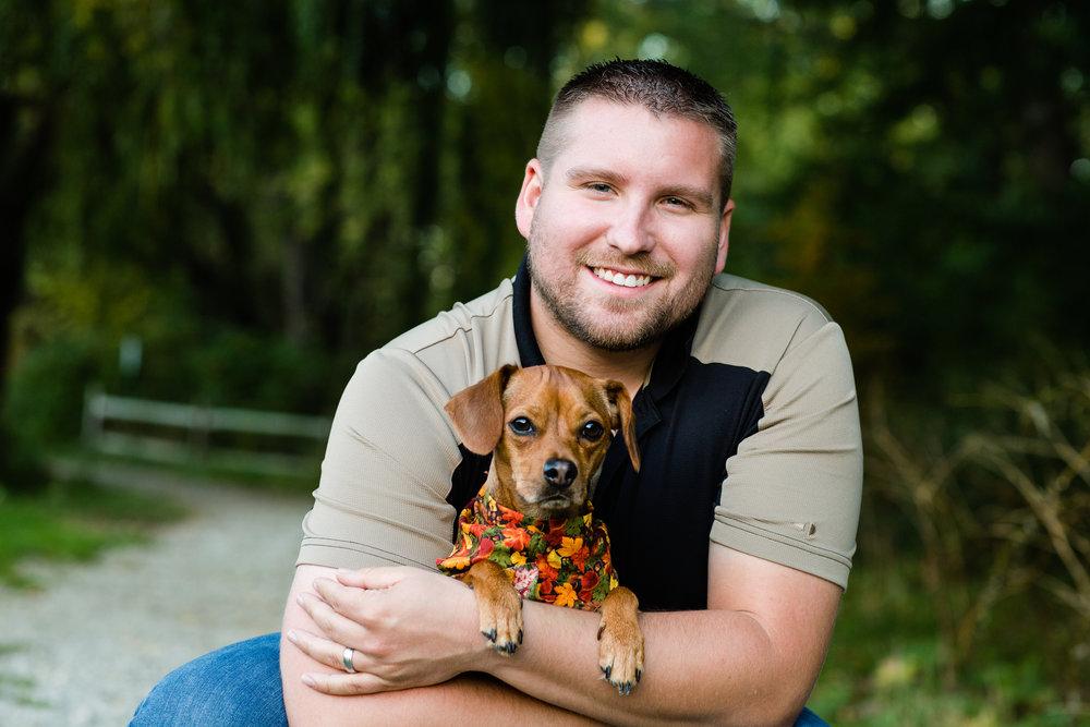 My dog Baxter (Mr. B) and I. Photo by Alex Ignatiuk