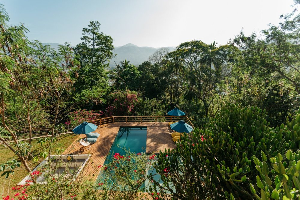 Our LUSH TROPICAL home for 7 nights, in the Sri Lankan hills near kandy