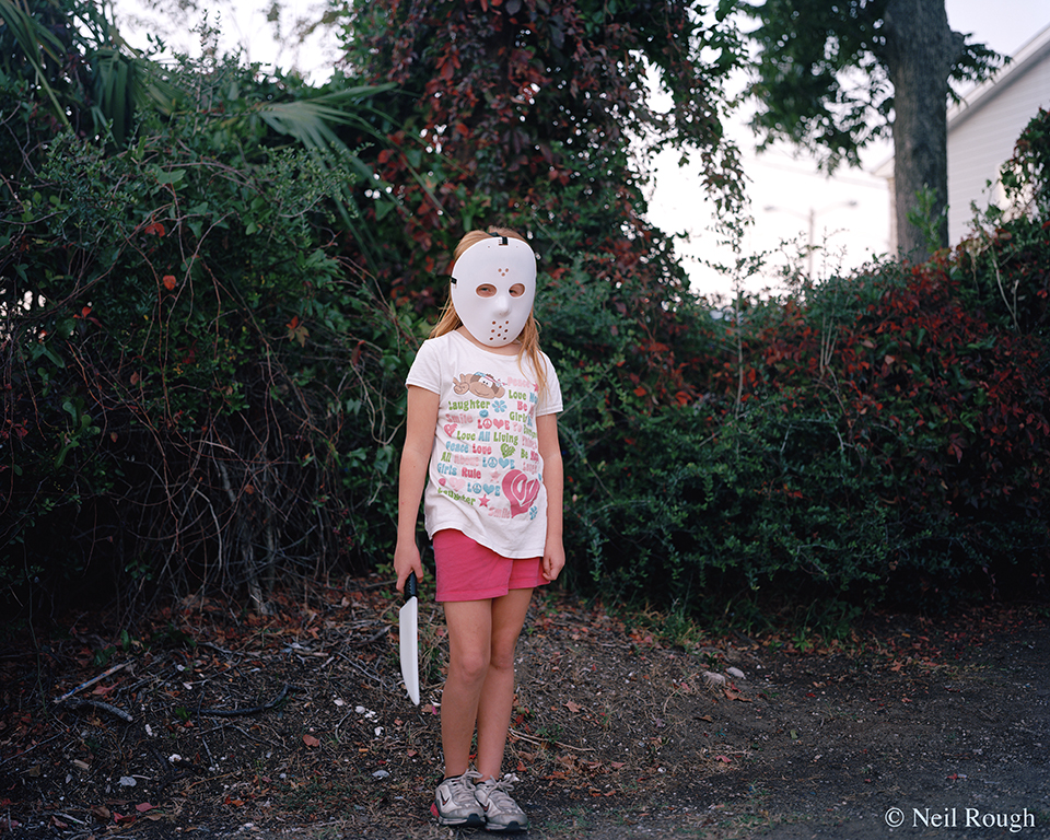 Myrtle Beach Girl with Hockey Mask and Knife 2012.jpg
