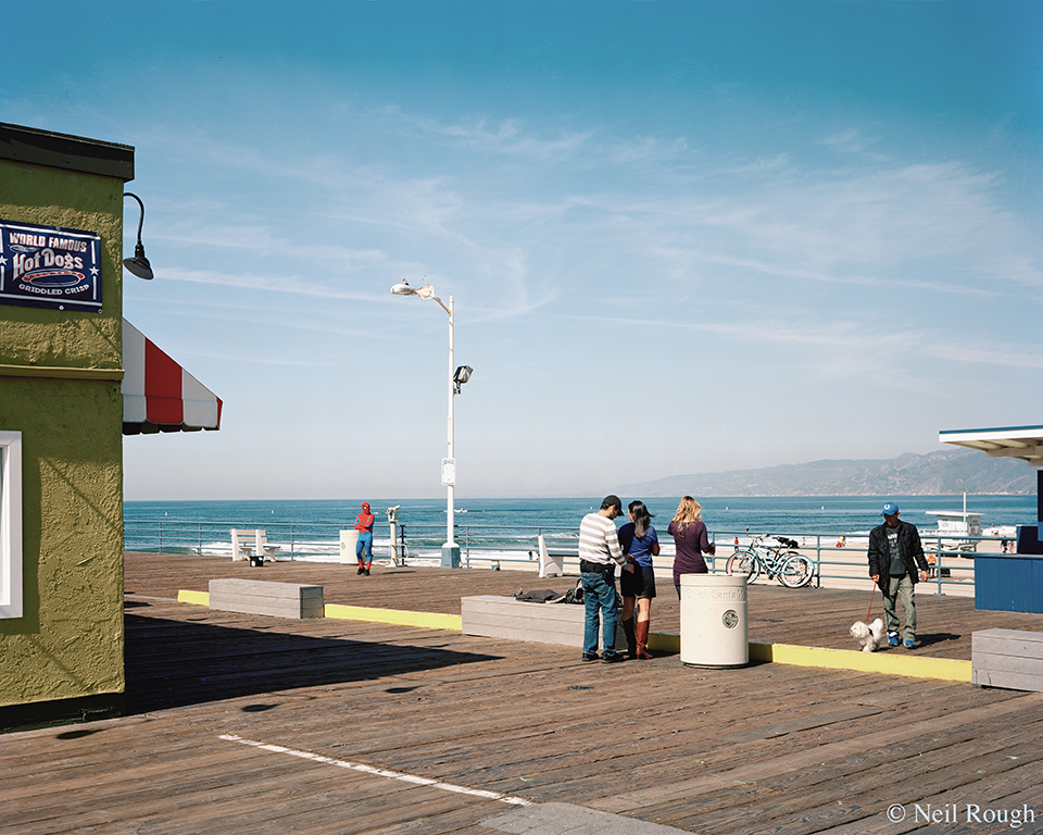 CA Santa Monica PIer and Spiderman 2012.jpg