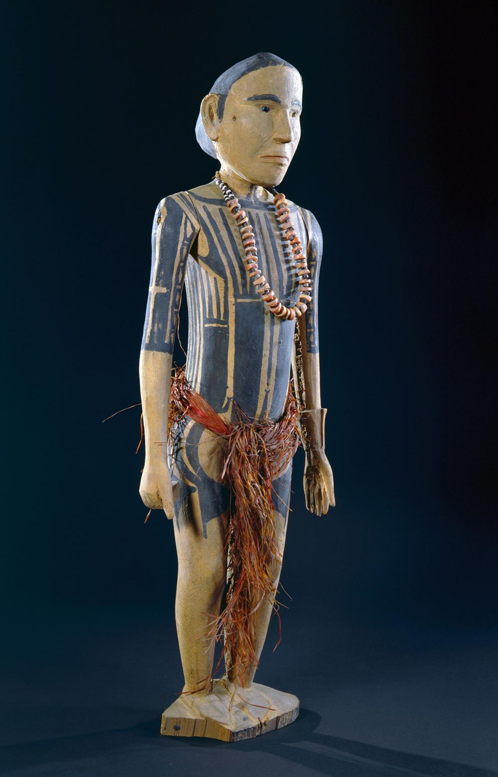 Holzskulptur, Yap, Mikronesien, Museum für Völkerkunde Dresden, Foto: Eva Winkler, Copyright SKD
