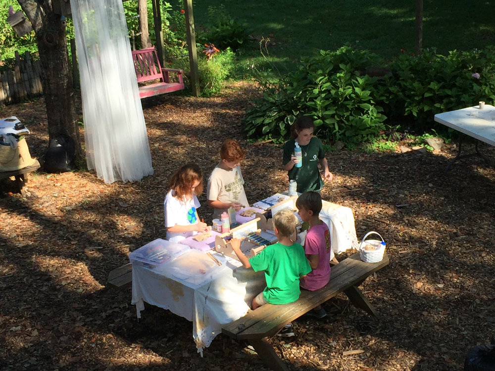 Getting kids back to the outdoor with art, storytelling and exploring.