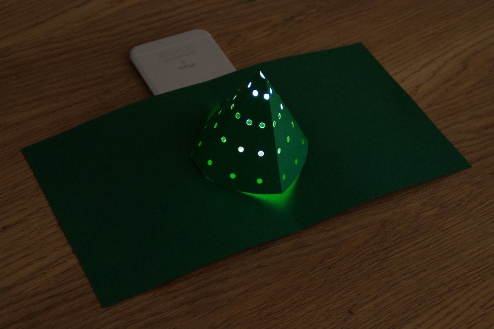 Pop-up Light-Up Christmas Tree Card