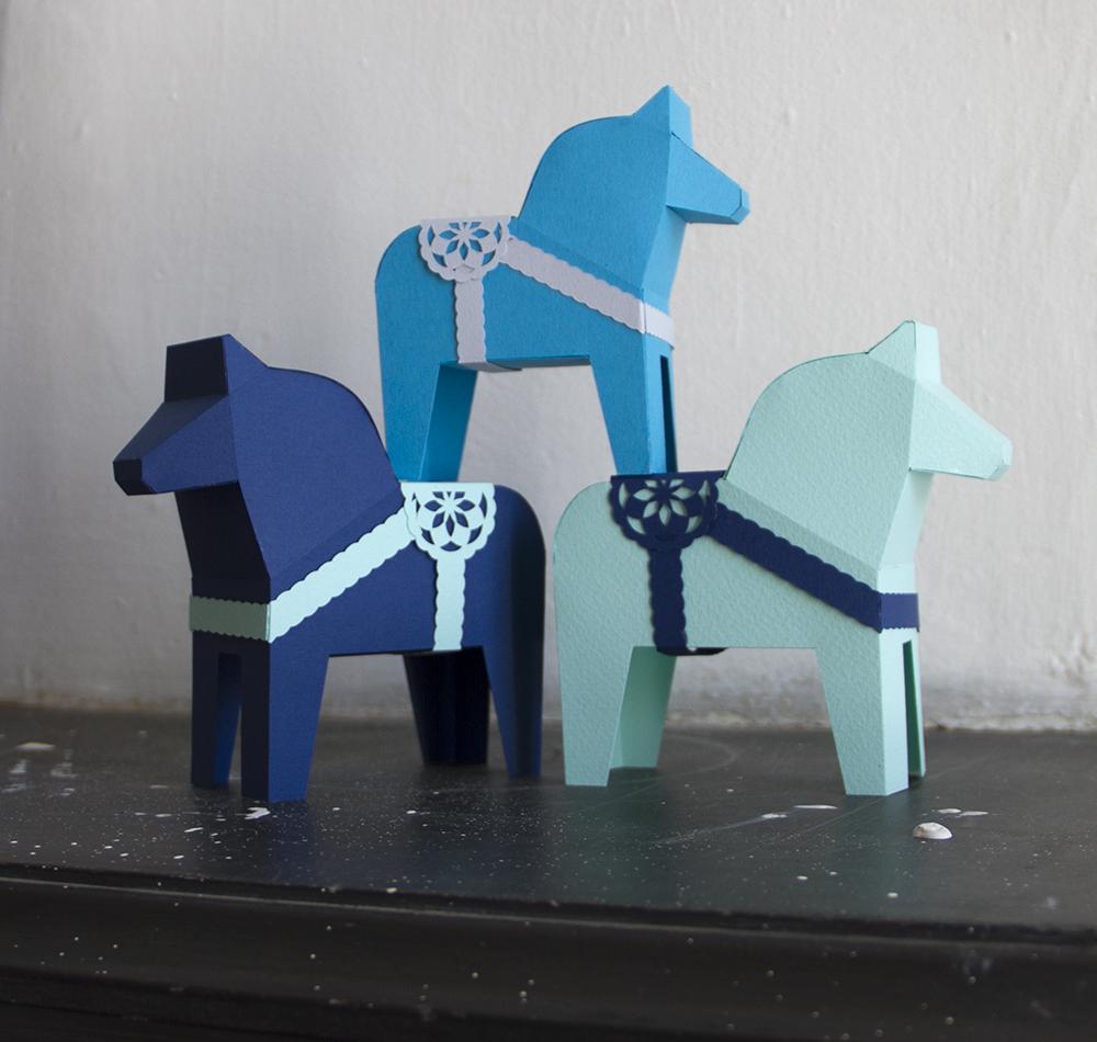 Dala Horse Papercraft Model