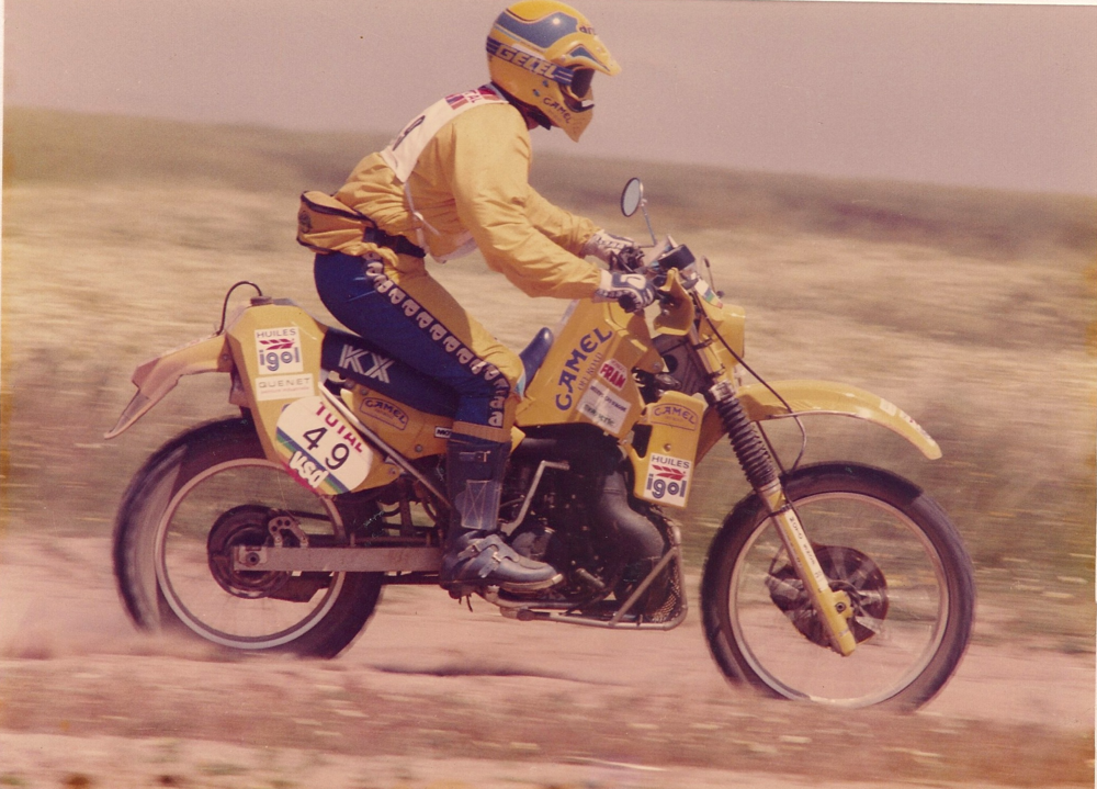 1987 Morocco Atlas Rally Kawasaki KX 500. This picture was taken the day before I got lost in the west Sahara for 4 days.