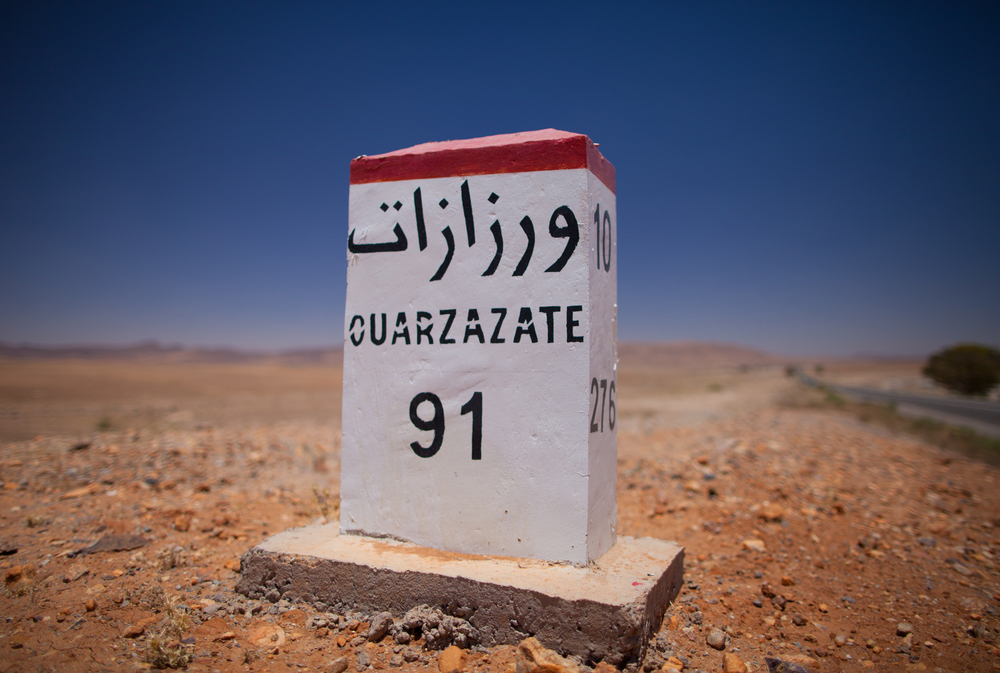 Mile marker 91 South of Ouarzazate Morocco