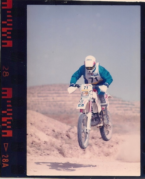 Christian doing his thing in the desert during the Baja Aragon 1991