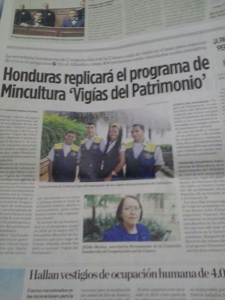 Imagen de nota publicada en el periodico El Heraldo