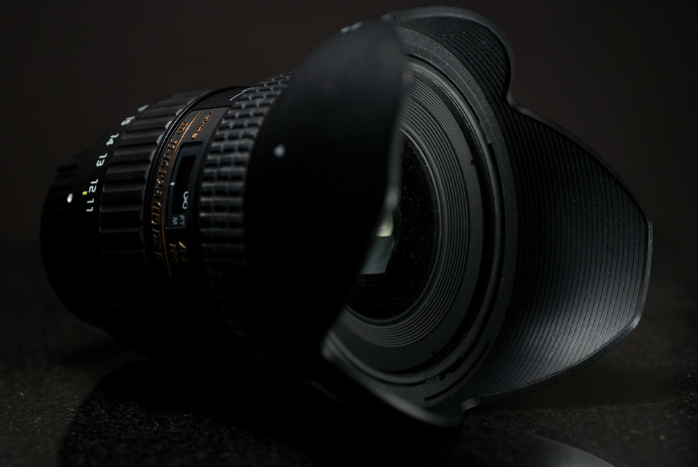 My wide-angle lens: the Tokina 11-16mm f/2.8 Pro DX II. 35mm equivalent: 16.5-24mm.