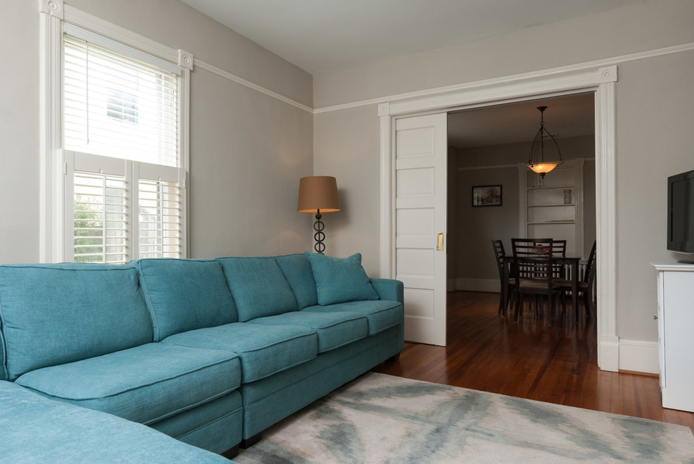 An unlit adjoining room can quickly give a real estate photo that spooky vibe.