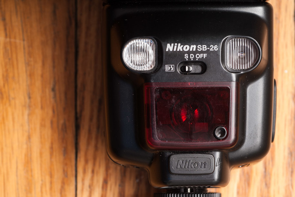 One of my trusty old Nikon SB-26 speedlights.