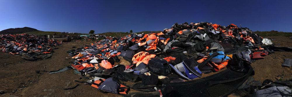 Die Müllhalde der Schwimmwesten