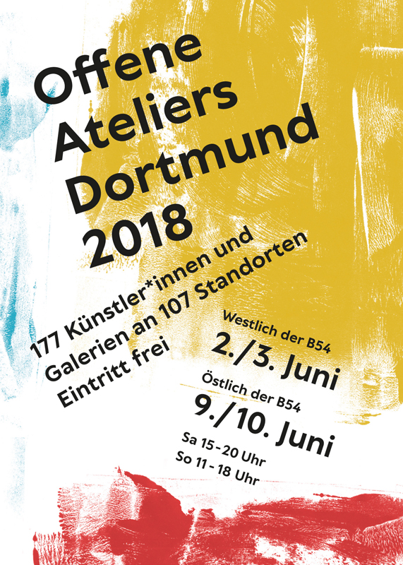 Der offizielle Flyer der offenen Ateliers 2018