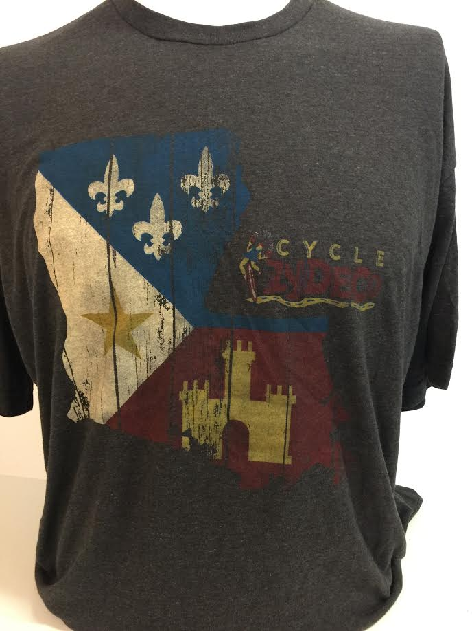 Cycle Zydeco Acadiana Flag T-Shirt — TRAIL 58ac528c3