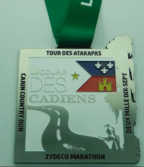 The medal from the 2016/2017 Courir des Cadiens