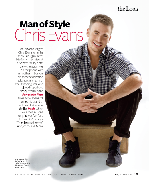 Man of Style Chris Evans