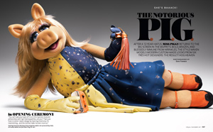 Miss Piggy InStyle Magazine
