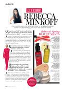 Rebecca Minkoff InStyle Magazine