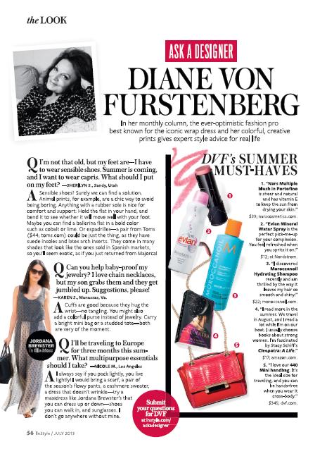 Diane Von Furstenberg InStyle Magazine