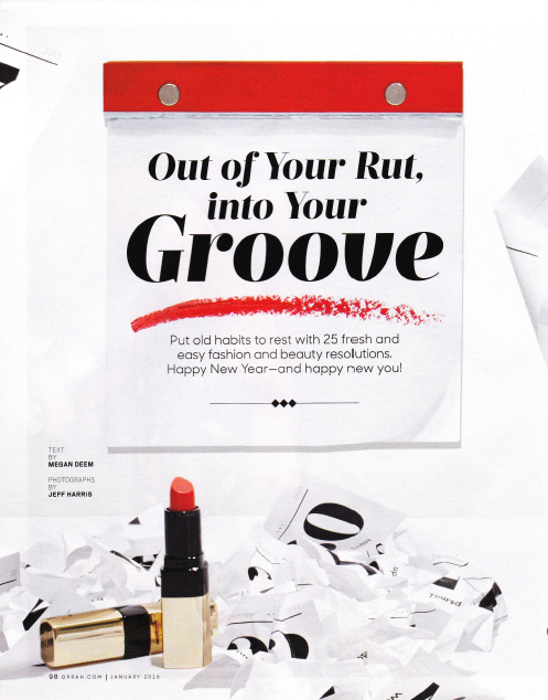 Out of your rut, into your Groove Oprah Magazine