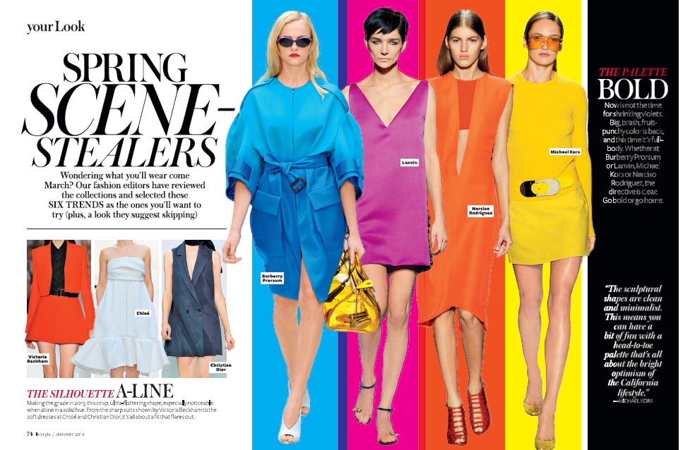 Spring Scene Stealers InStyle Magazine