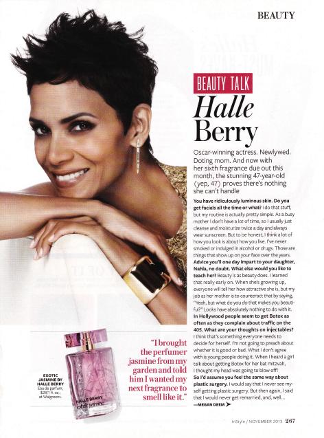 Halle Berry Oprah Magazine