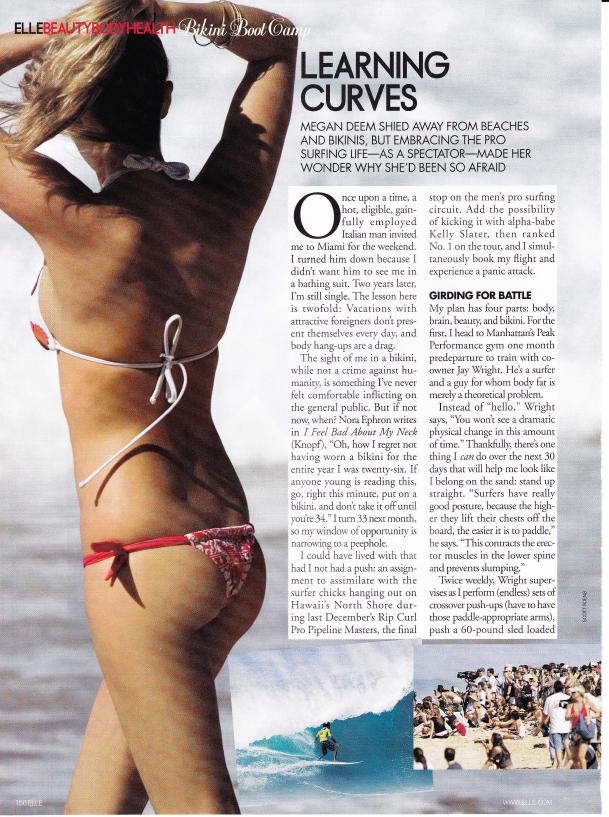 Bikini Body Elle Magazine by Megan Deem