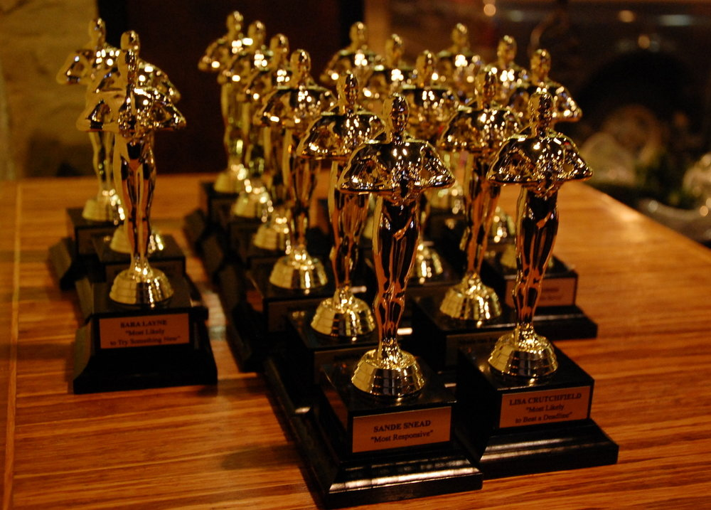 "Rhudy & Co. presented our own ""Oscars"" to our team at our holiday party in January."
