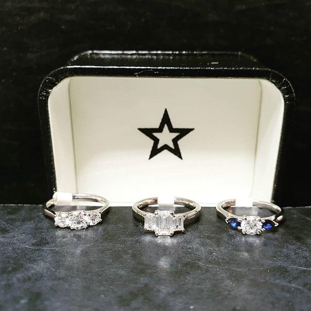 Trilogy Rings! When one diamond is not enough...💎💎💎 #diamond #trilogy #jewellery #starjewellers #london #elegant #fashion #engagementring #engaged #love #giftsforher #elegant #womensfashion #shesaidyes #sparkle #trending