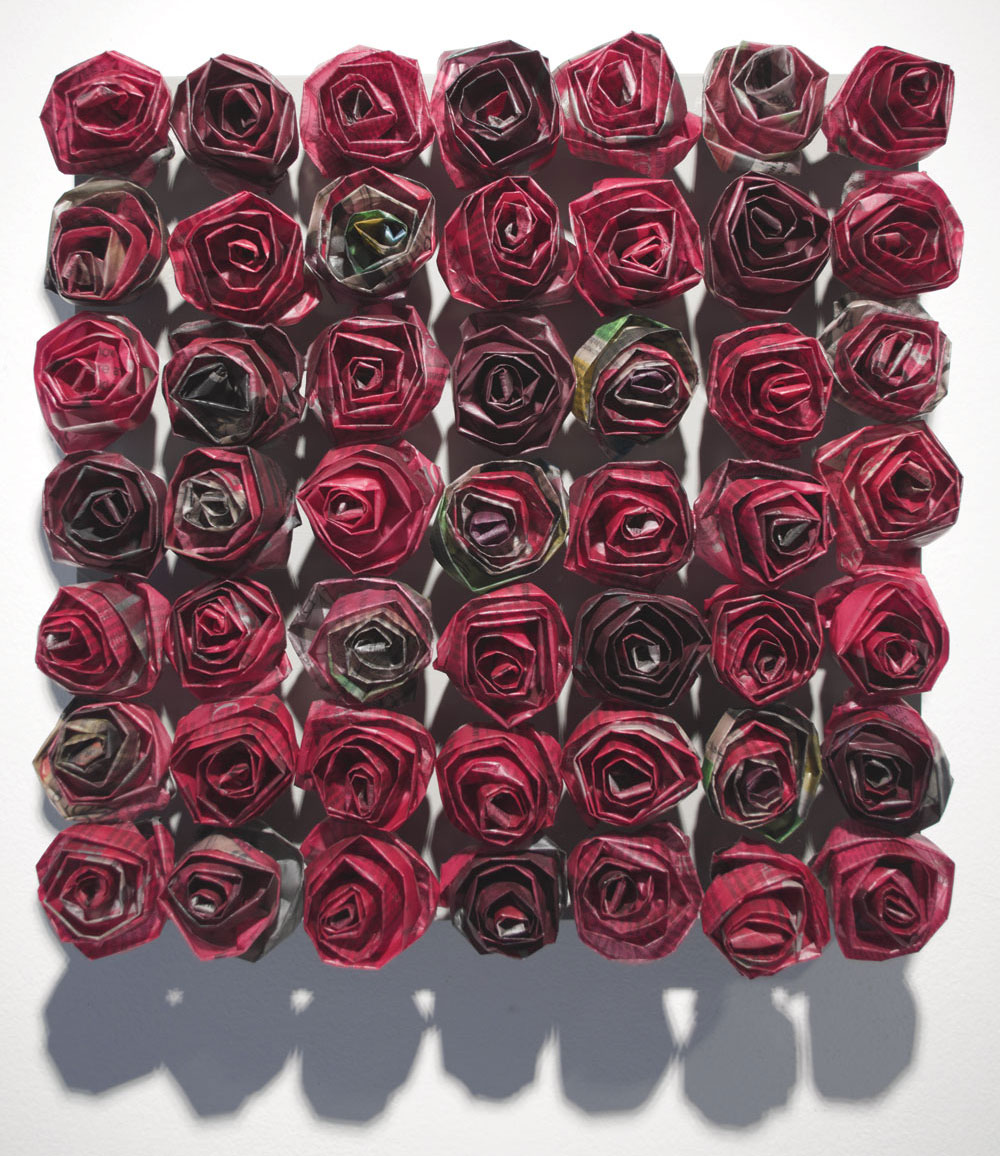 "Tribute Rose 13D  12 x 12"" $ 1,200."