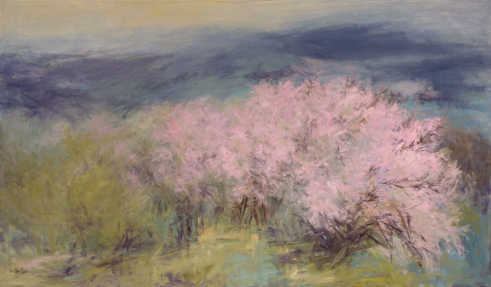 "Taos Orchard 39 x 63"" $ 8,400."