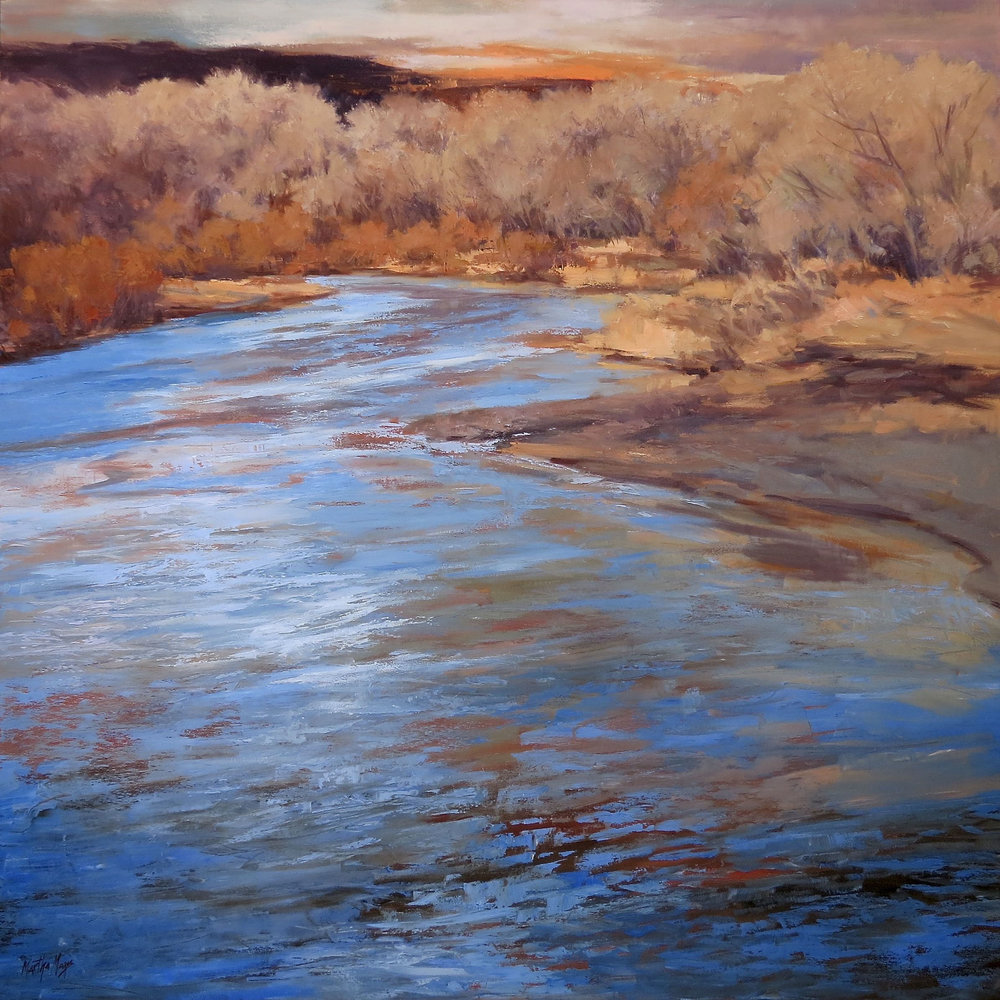Chama River Down the River, 48 x 48""