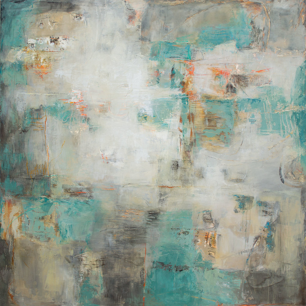 "A Moment in Time   60 x 60"" $ 11,500."