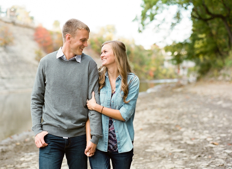 Rocky River Ohio Fall Engagement Session