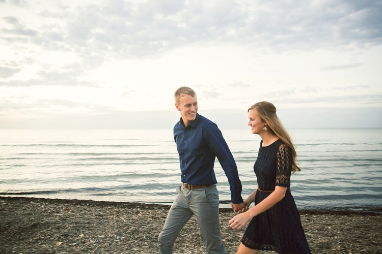 Edgewater Beach Ohio Engagement Photos