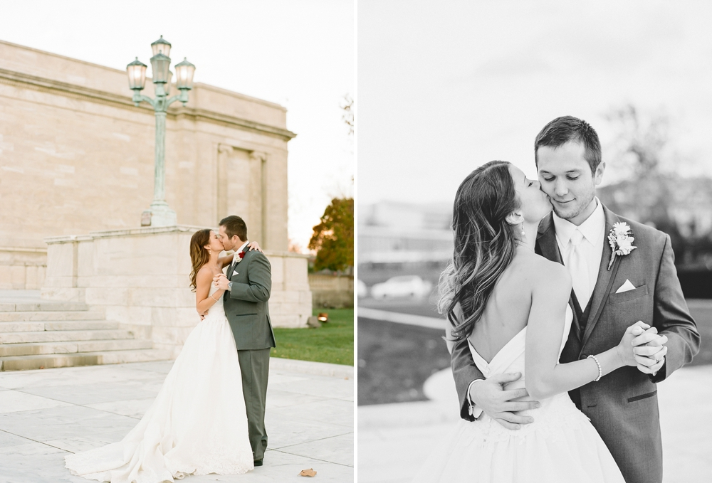 Fall Cleveland Art Museum Wedding Photos