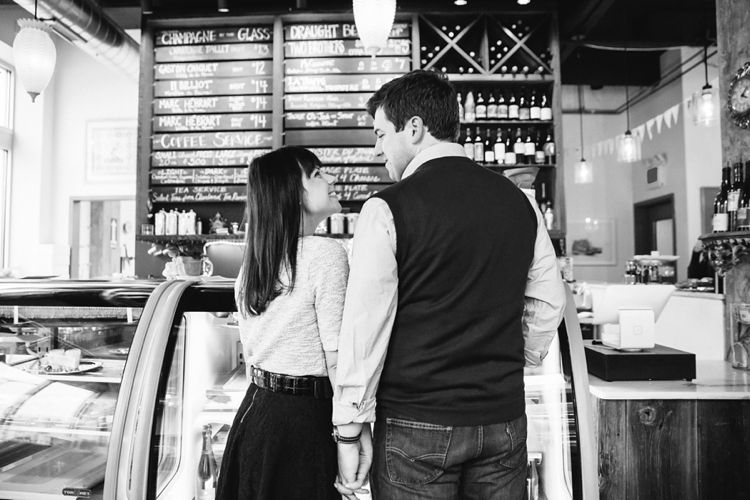 Coquette Patisserie Cleveland Engagement Photos