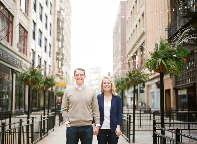 Downtown Cleveland Engagement Photos