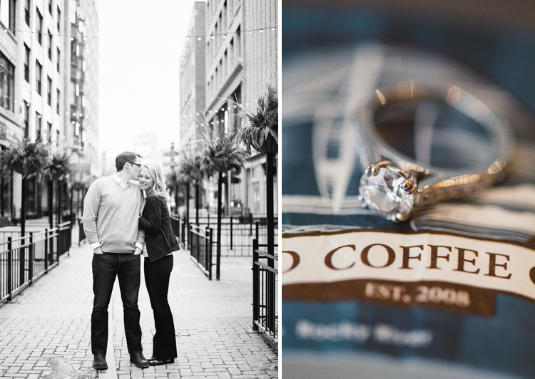 Erie Island Coffee Shop Engagement Photos